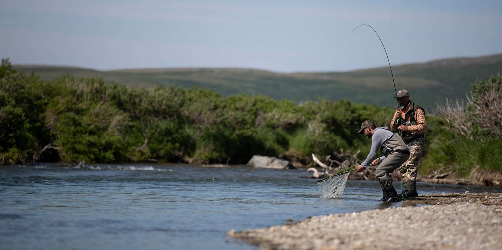 Funnel Creek Fly Fishing at Kulik Lodge by Hollis Bennett