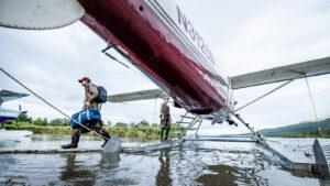 Kulik Lodge Unloading Plane by Arian Stevens